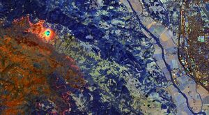 تصاویر ماهوارهای از آتش سوزی کالیفرنیا