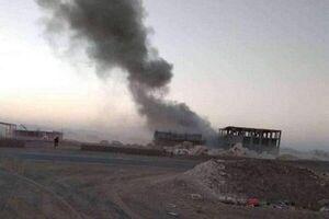 حمله هوائی متجاوزان سعودی به کامیون حامل مواد غذایی در یمن