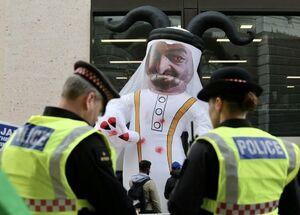 تحقیر سران امارات و اسرائیل در لندن