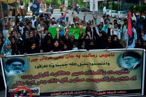 عکس/ خروش مسلمانان پاکستان علیه نشریه هتاک فرانسوی