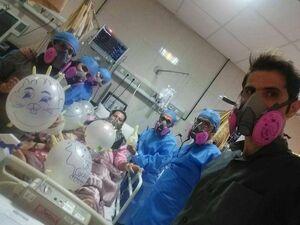 جشن تولد کرونایی در بیمارستان +عکس