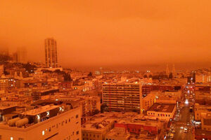 فیلم/ آسمان سانفرانسیکو نارنجی شد