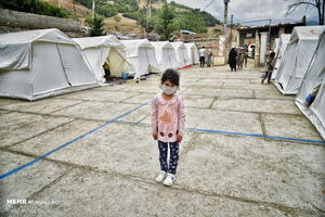 عکس/ وضعیت زلزله زدگان رامیان گلستان