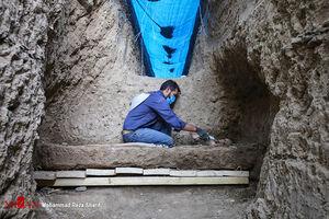 کشف اسکلتهای اشکانی در اصفهان