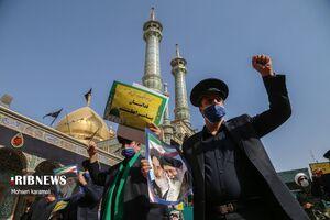 عکس/ تجمع مردم قم در محکومیت اهانت به مقدسات اسلام
