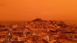 تصاویر خیره کننده از آسمان نارنجی سانفرانسیسکو