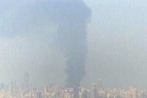 فیلم/ آتشسوزی مجدد بندر بیروت از نمای نزدیک