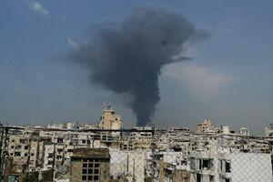 فیلم/ آتشسوزی جدید در بندر بیروت را از بالا ببینید