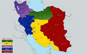 تقسیمات کشوری نقشه ایران نمایه