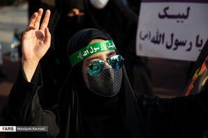 عکس/ اجتماع مردم تهران در محکومیت اهانت به پیامبر