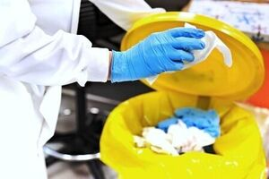 زبالههای بیماران کرونایی