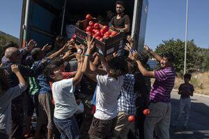 آوارگی مهاجران در یونان