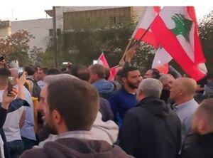 درگیری مخالفان و موافقان رئیس جمهور لبنان +فیلم