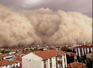 عکس/ طوفان شن در پایتخت ترکیه