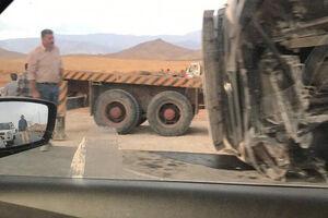 عکس/ واژگونی تریلی در محور فیروزکوه