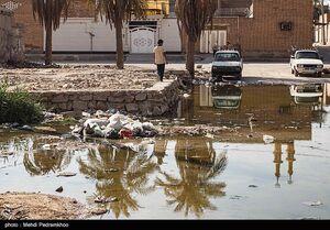 عکس/ بالا آمدن فاضلاب در کوت عبدالله