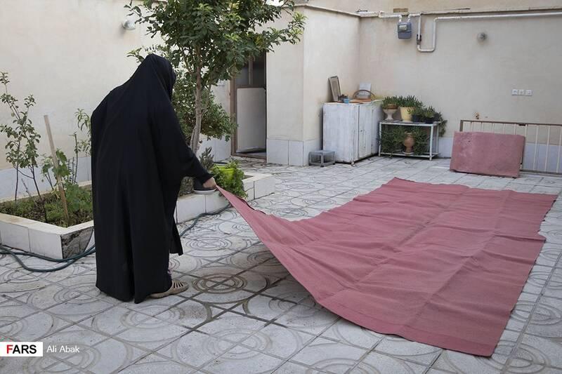 آمادهسازی فضا برای برگزاری روضه