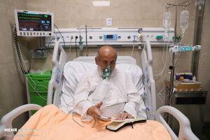 تصاویر جدید از شیخ حسین انصاریان در بیمارستان