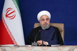 عکس/ همه با ماسک، بهغیر از روحانی در جلسه شورای عالی فضای مجازی