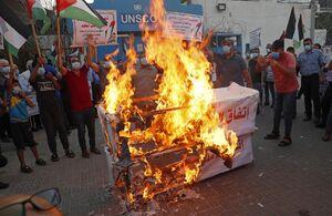 خشم مردم غزه علیه عادی سازی روابط