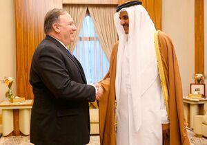 مایک پامپئو تمیم بن حمد آل ثانی آمریکا قطر