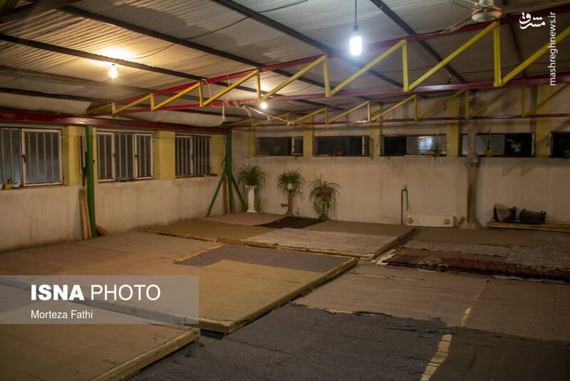 قسمتی از خانه که جهت کار اتوکاری فرش و دارکشی قالی اختصاص داده شده است