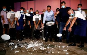 عکس/ خشم رستورانداران تل آویو از نتانیاهو