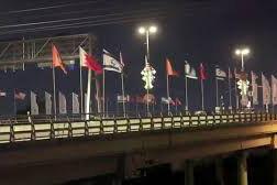 فیلم/ تعویض پرچم بحرین توسط معترضان اسرائیلی