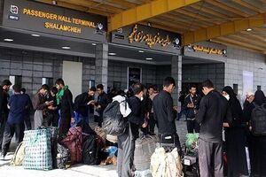 تجمع زائران در مسیر منتهی به مرز شلمچه پایان یافت - کراپشده