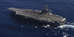 ناو هواپیمابر «یواساس نیمیتز« وارد خلیج فارس شد
