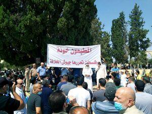 تداوم تجمع فلسطینیها در اعتراض به سازش عربها