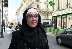 دانشجوی محجبه فرانسوی نقاب از چهره «کشور نور و زیبایی» برداشت!