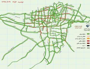 وضعیت ترافیک تهران+عکس