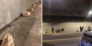 برخورد بی شرمانه با بی خانمانها در آمریکا +عکس