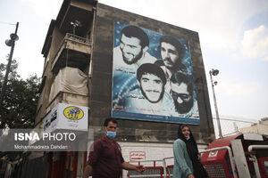 عکس/ رنگ شهادت بر دیوارهای شهر شیراز