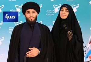 عکس/الهام چرخنده و همسرش در افتتاحیه جشنواره فیلم مقاومت