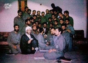 عکس/ شهید سلیمانی و فرماندهان دفاع مقدس در کنار رهبر انقلاب