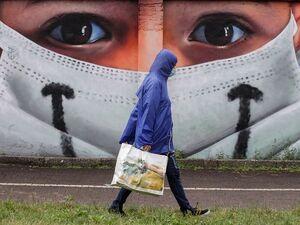 رد پای کرونا بر دیوارهای جهان + تصاویر
