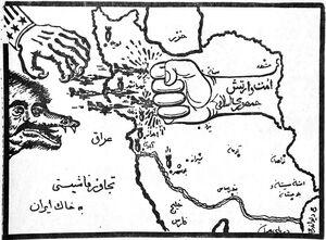 نخستین کاریکاتورها بعد از تجاوز صدام به ایران+عکس