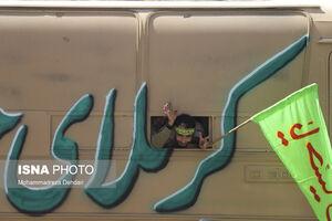 عکس/ بازآفرینی اعزام رزمندگان به جبههها