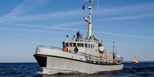 برخورد کشتی دانمارکی با ناوچه روسی در تنگه «اورسوند»