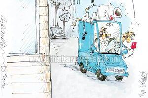کارتون محمدرضا میرشاهولد درباره بازیکن مصدوم و مربی شاکی - کراپشده