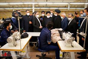 عکس/ بازدید رئیس قوه قضاییه از کارخانه نساجی سبلان