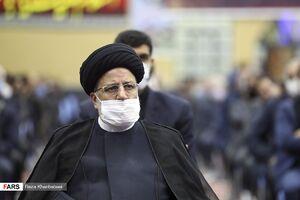عکس/ حضور رئیسی در مجمع الذاکرین اردبیل