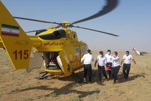 سقوط بالگرد امدادی اورژانس در نظرآباد/دو نفر مصدوم شدند - کراپشده