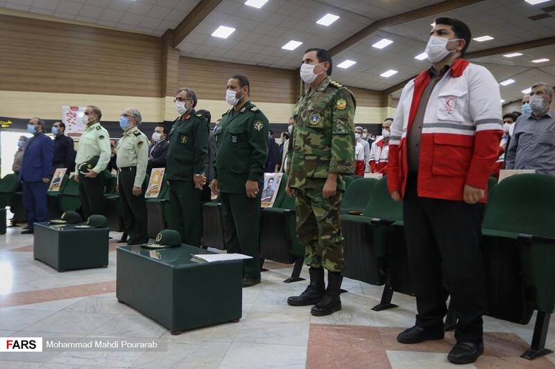 حضور مسئولین و مقامات نظامی استان البرز در مراسم افتتاحیه نمایشگاه