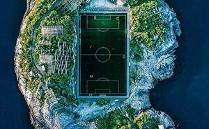 عکس/ جزیره فوتبالی