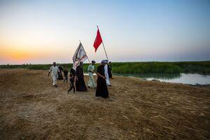 پیاده روی مردم عراق به سمت کربلا
