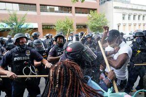 عکس/ موج دوم درگیریهای خیابانی در آمریکا