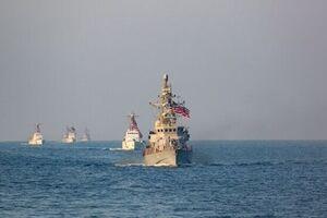برگزاری رزمایش هوایی و دریایی آمریکا در خلیج فارس - کراپشده